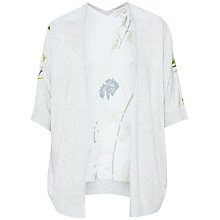 Buy Ted Baker Kembly Pearly Petal Wrap Cardigan, Ash Online at johnlewis.com