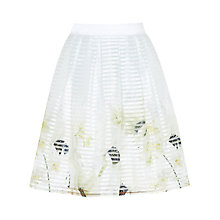 Buy Ted Baker Fynthia Pearly Petal Mesh Skirt, Ash Online at johnlewis.com