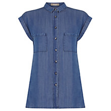 Buy Oasis Taylor Shirt, Denim Online at johnlewis.com
