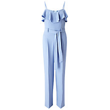 Buy Miss Selfridge Ruffle Detail Jumpsuit, Pale Blue Online at johnlewis.com