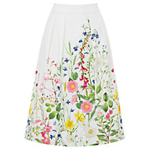 Buy Oasis Chelsea Physic Print Skirt, Multi/Natural Online at johnlewis.com