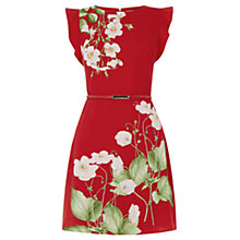 Buy Oasis Chelsea Physic Border Dress, Multi/Red Online at johnlewis.com