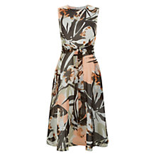 Buy Hobbs Palm Dress, Shell Pink Multi Online at johnlewis.com