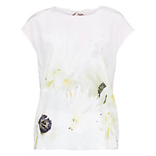 Buy Ted Baker Pearly Petal Top, Nude Pink Online at johnlewis.com