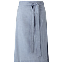 Buy Miss Selfridge Look Midi Skirt, Pale Blue Denim Online at johnlewis.com
