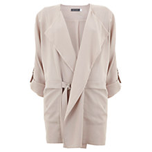 Buy Mint Velvet Collarless Organic Jacket, Nude Online at johnlewis.com