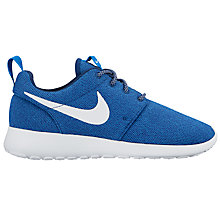 Buy Nike Roshe One Women's Trainers, Blue/White Online at johnlewis.com