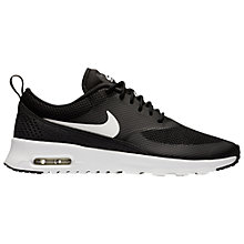 Buy Nike Air Max Thea Women's Trainers, Black/White Online at johnlewis.com