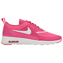 Buy Nike Air Max Thea Women's Trainers, Pink/White Online at johnlewis.com