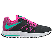 Buy Nike Air Zoom Winflo 3 Women's Running Shoes, Black/Multi Online at johnlewis.com