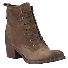 Buy John Lewis Harper Lace Up Ankle Boots, Taupe Online at johnlewis.com