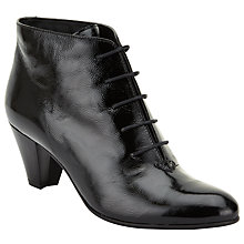 Buy John Lewis Patricia Lace Up Ankle Boots, Black Patent Online at johnlewis.com