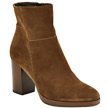 Buy John Lewis Phoebe Block Heeled Ankle Boots, Tan Online at johnlewis.com