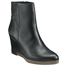 Buy Kin by John Lewis Pepita Wedge Heeled Ankle Boots, Black Online at johnlewis.com