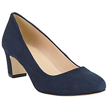 Buy John Lewis Alfia Block Heeled Court Shoes, Navy Online at johnlewis.com