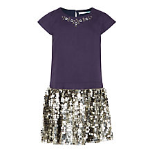 Buy John Lewis Girls' Beaded Drop Waist Dress Online at johnlewis.com