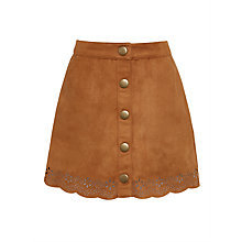 Buy John Lewis Girls' Suedette Skirt, Brown Online at johnlewis.com