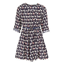 Buy John Lewis Girls' Deer Print Dress, Peacoat Online at johnlewis.com
