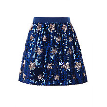 Buy John Lewis Girls' Sequin Star Skirt, Navy Online at johnlewis.com