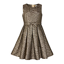 Buy John Lewis Heirloom Collection Girls' Metallic Dress, Bronze Online at johnlewis.com