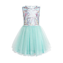 Buy John Lewis Girls' Sequin Bodice Dress, Green Online at johnlewis.com