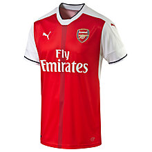 Buy Puma Arsenal F.C. 2016/17 Home Football Shirt, Red/White Online at johnlewis.com