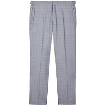 Buy Jaeger Glen Check Slim Fit Suit Trousers, Grey Online at johnlewis.com