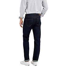 Buy Jaeger Washed Selvedge Slim Jeans, Indigo Online at johnlewis.com