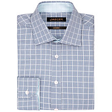 Buy Jaeger Puppytooth Modern Fit Shirt, Blue Online at johnlewis.com