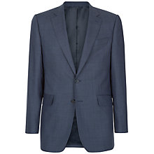 Buy Jaeger Wool Sharkskin Windowpane Check Classic Fit Suit Jacket, Blue Online at johnlewis.com