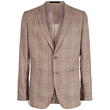 Buy Jaeger Wool Glen Check Modern Fit Blazer, Taupe Online at johnlewis.com