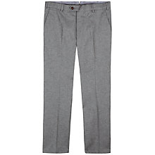 Buy Jaeger Herringbone Slim Fit Trousers, Grey Online at johnlewis.com