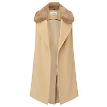 Buy Helene For Denim Wardrobe Faux Fur Collar Waistcoat Online at johnlewis.com