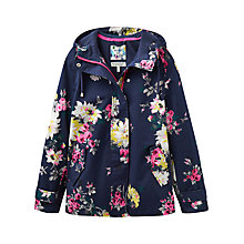 Buy Joules Right as Rain Coast Waterproof Printed Jacket, French Navy Floral Online at johnlewis.com