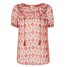 Buy Joie Masha Silk Top, Coral Rose Online at johnlewis.com
