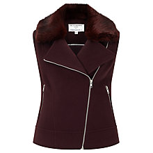 Buy Helene For Denim Wardrobe Sleeveless Biker Jacket Online at johnlewis.com