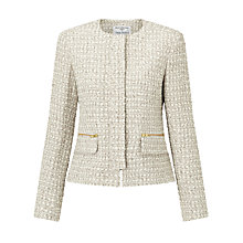 Buy Helene For Denim Wardrobe Elle Concealed Zip Jacket, Stone Tweed Online at johnlewis.com