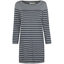 Buy Seasalt Megrim Dress, Grey/Fathom Stripe Online at johnlewis.com
