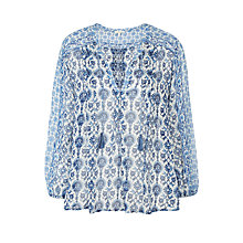 Buy Joie Auberon Silk Blouse, Marina Online at johnlewis.com