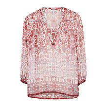 Buy Joie Frazier B Silk Blouse, Coral Rose Online at johnlewis.com