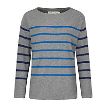 Buy Seasalt Captain Stripe Jumper, Cookworthy Grey Online at johnlewis.com