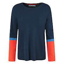 Buy Seasalt Stoneware Jumper, Cuff Colourblock Sunstone Online at johnlewis.com