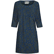 Buy Seasalt Wagtail Printed Dress, Tjanting Leaf Marine Online at johnlewis.com