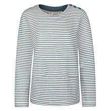 Buy Seasalt Tiny Ribbon Stripe Sweatshirt, Pengegon Minnow Online at johnlewis.com