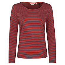 Buy Seasalt Strawberry Stripe Top, Narrows Rust Online at johnlewis.com