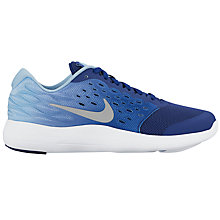 Buy Nike Children's Laced Lunarstelos GS Trainers, Blue/White Online at johnlewis.com