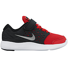 Buy Nike Lunarstelos Pre-School Shoes, Red/Black Online at johnlewis.com