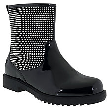 Buy Lelli Kelly Children's Diamante Mid Boots, Black Patent Online at johnlewis.com