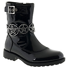 Buy Lelli Kelly Children's Ann Mid Nero Vernice Ankle Boots, Black Patent Online at johnlewis.com