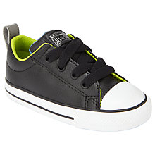 Buy Converse Children's Chuck Taylor All Star Street Lace Shoes, Black/Lime Online at johnlewis.com